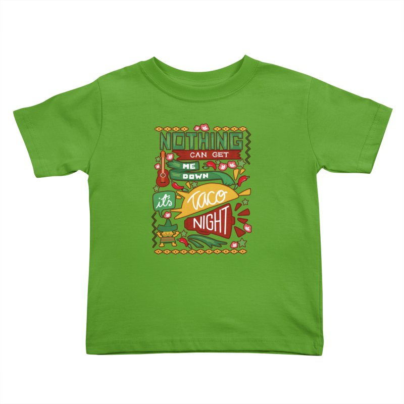 Taco night Kids Toddler T-Shirt by blancajp's Artist Shop