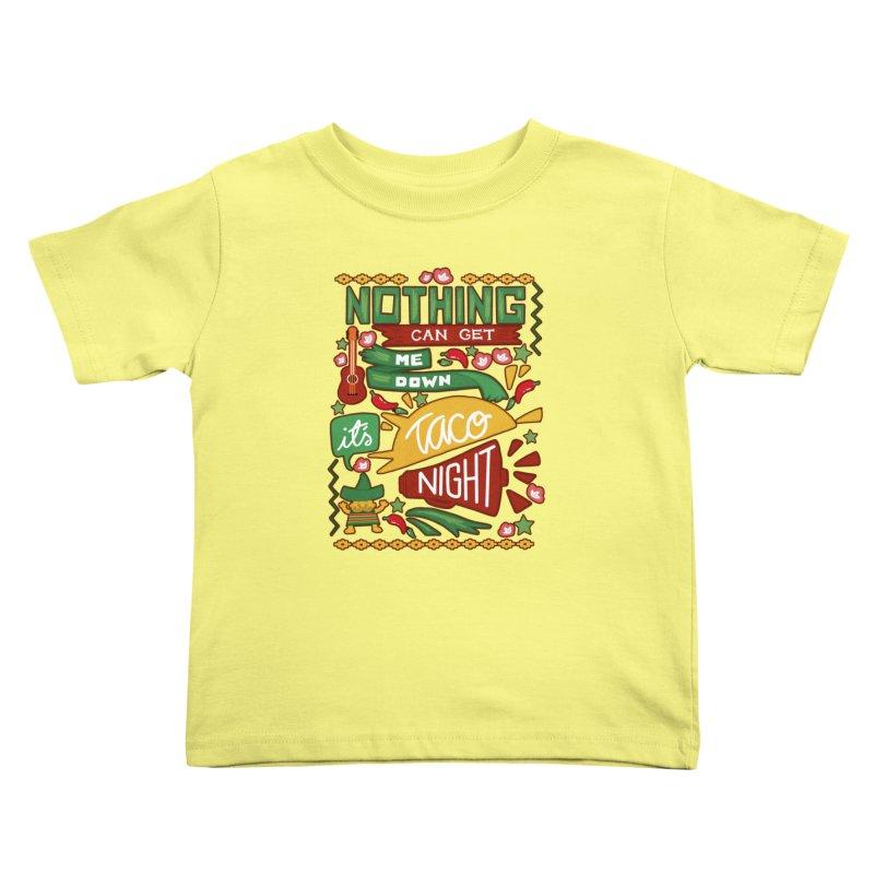 Taco night Kids Toddler T-Shirt by blancajp's Artist Shop