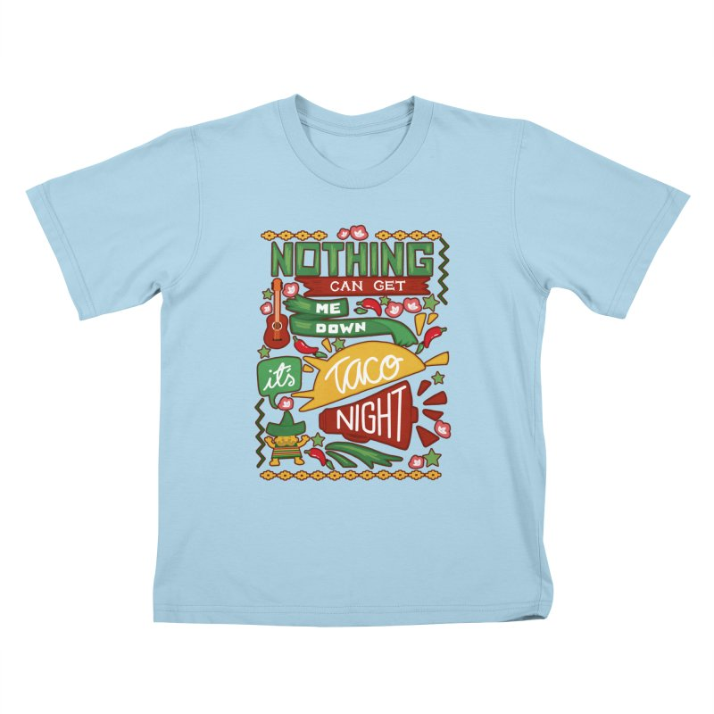 Taco night Kids T-Shirt by blancajp's Artist Shop