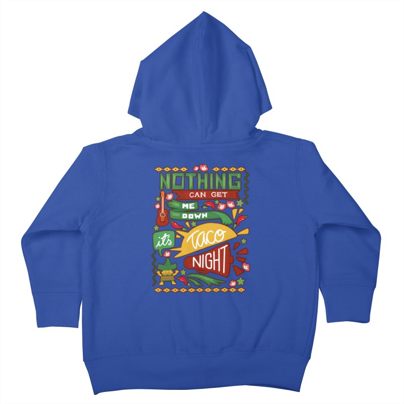 Taco night Kids Toddler Zip-Up Hoody by blancajp's Artist Shop