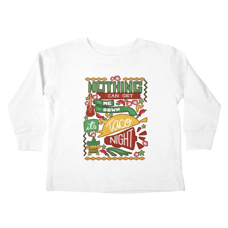 Taco night Kids Toddler Longsleeve T-Shirt by blancajp's Artist Shop