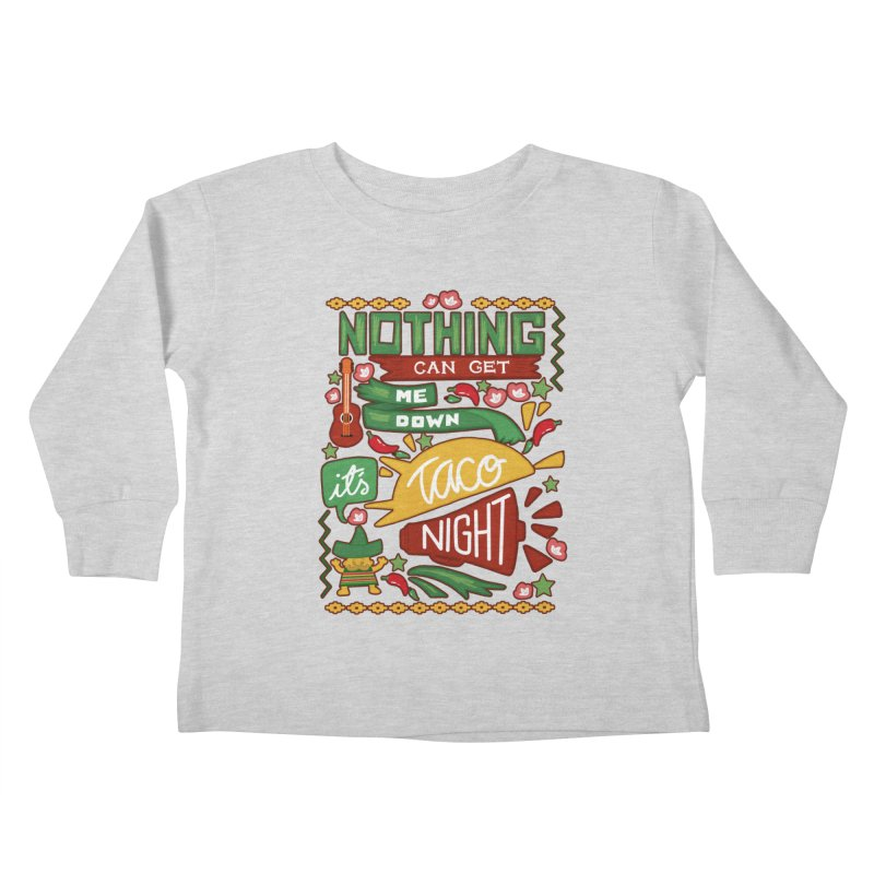 Taco night Kids Toddler Longsleeve T-Shirt by blancajp's Artist Shop