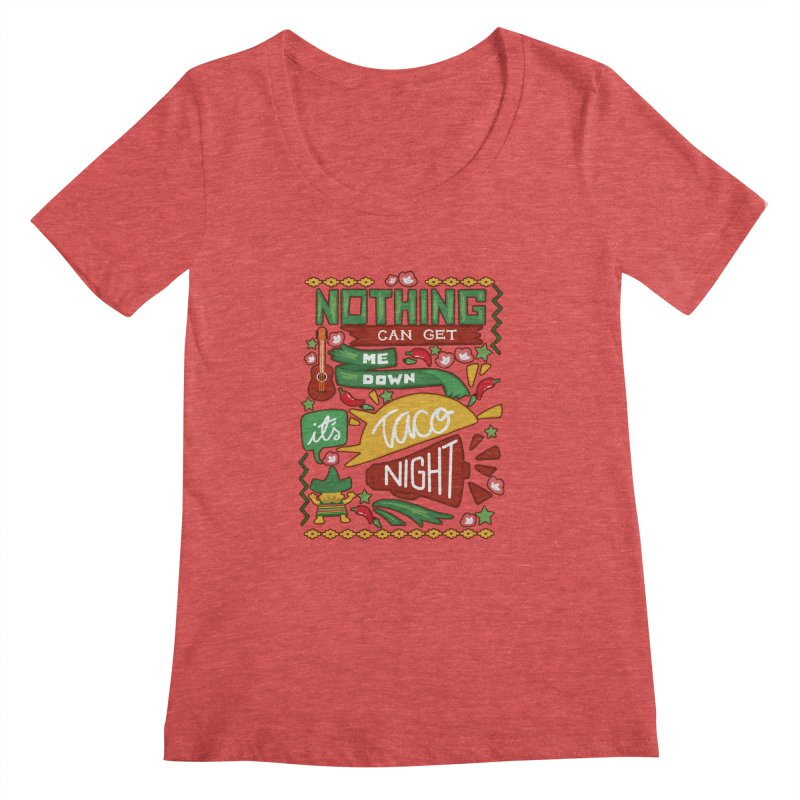 Taco night Women's Regular Scoop Neck by blancajp's Artist Shop