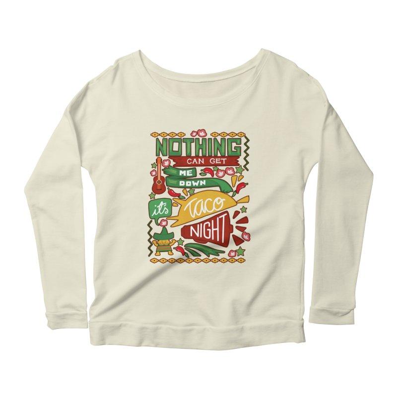 Taco night Women's Scoop Neck Longsleeve T-Shirt by blancajp's Artist Shop