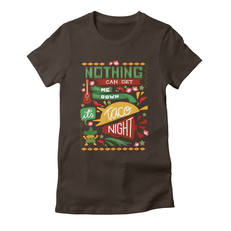 Taco night Women's Fitted T-Shirt by blancajp's Artist Shop
