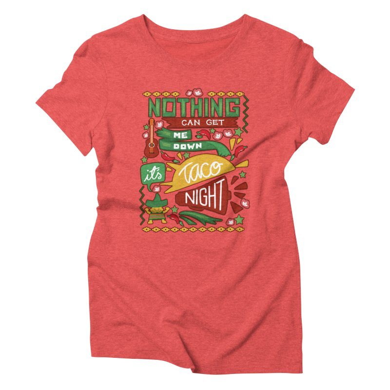 Taco night Women's Triblend T-Shirt by blancajp's Artist Shop
