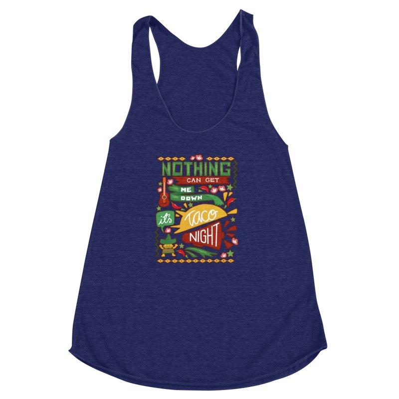 Taco night Women's Racerback Triblend Tank by blancajp's Artist Shop