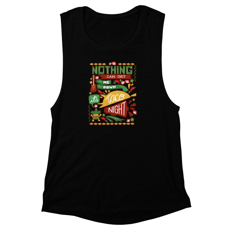 Taco night Women's Muscle Tank by blancajp's Artist Shop