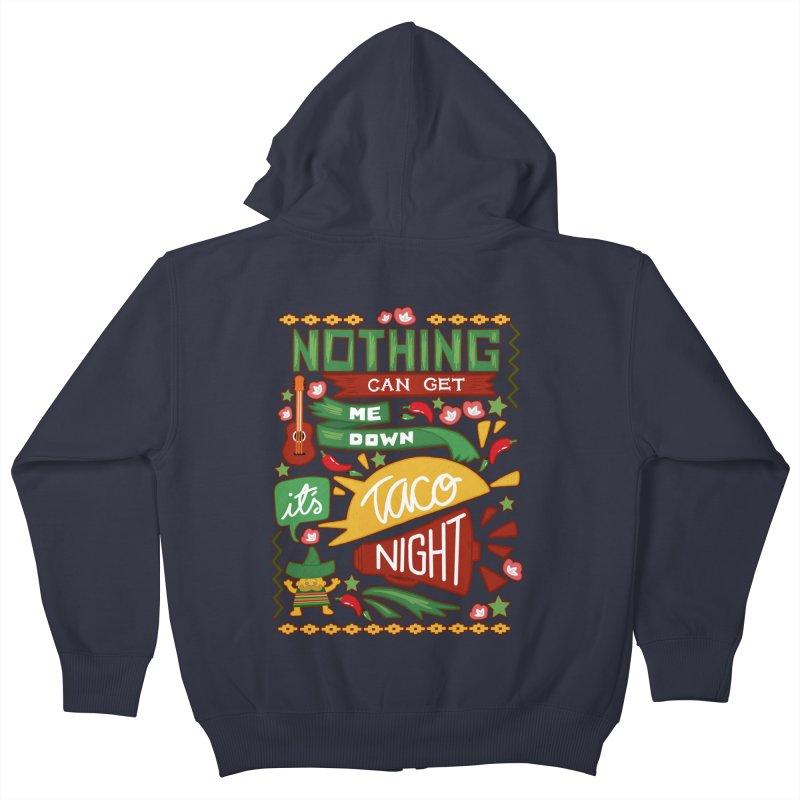 Taco night Kids Zip-Up Hoody by blancajp's Artist Shop