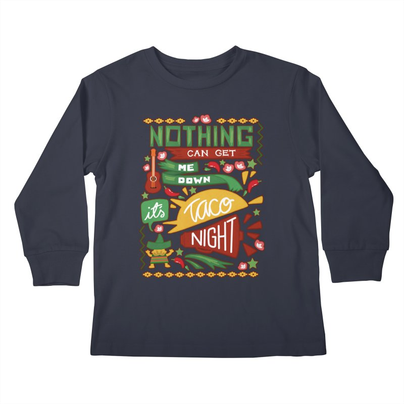 Taco night Kids Longsleeve T-Shirt by blancajp's Artist Shop