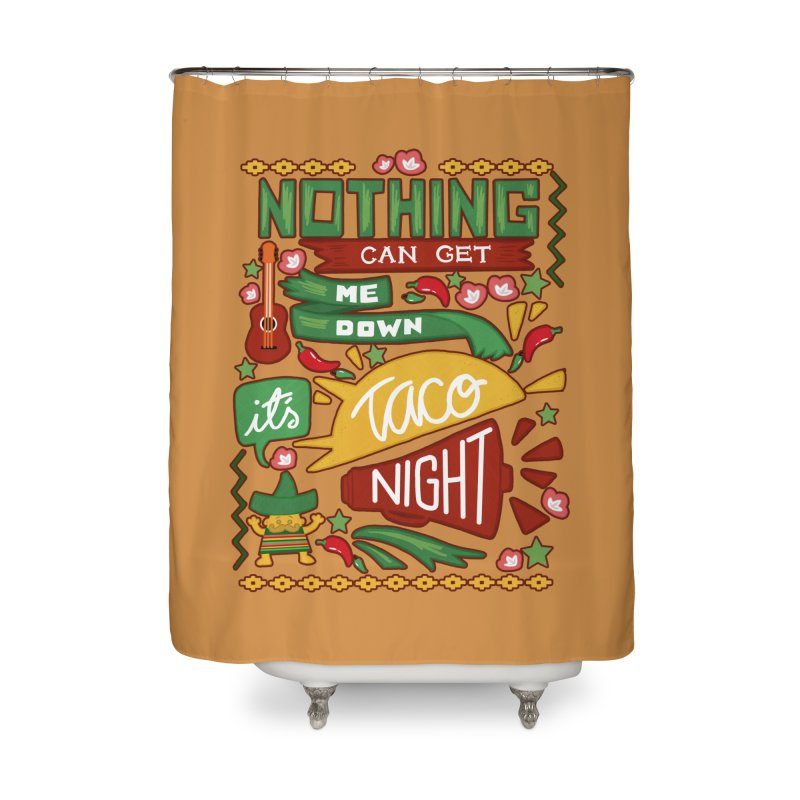 Taco night Home Shower Curtain by blancajp's Artist Shop