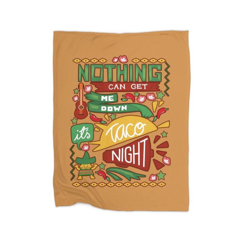 Taco night Home Fleece Blanket Blanket by blancajp's Artist Shop