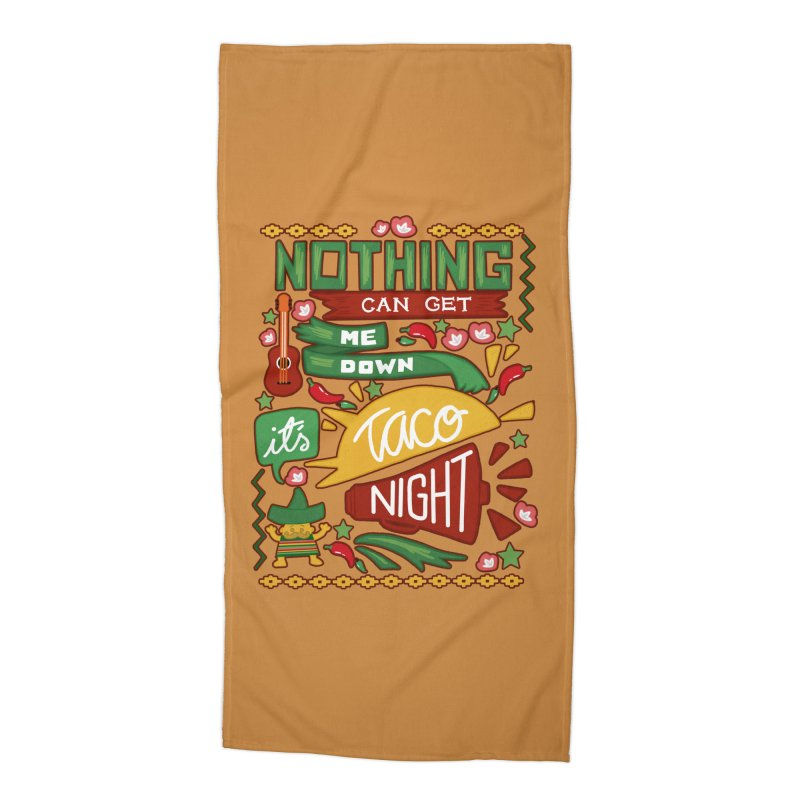 Taco night Accessories Beach Towel by blancajp's Artist Shop