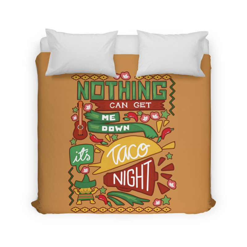 Taco night Home Duvet by blancajp's Artist Shop