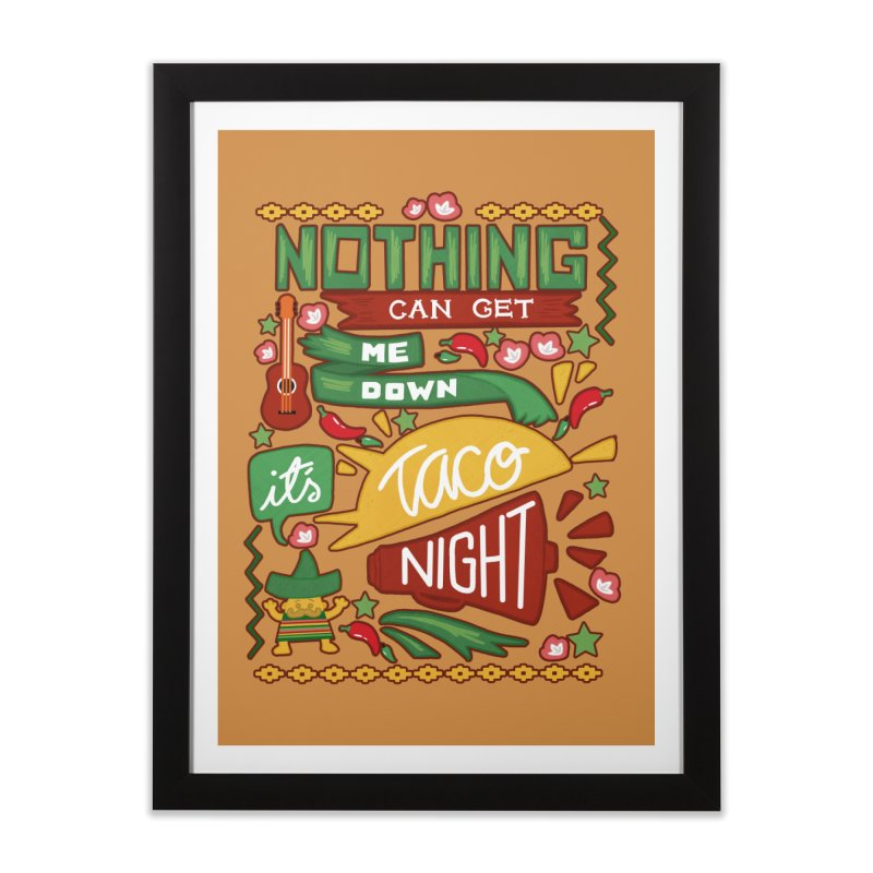 Taco night Home Framed Fine Art Print by blancajp's Artist Shop