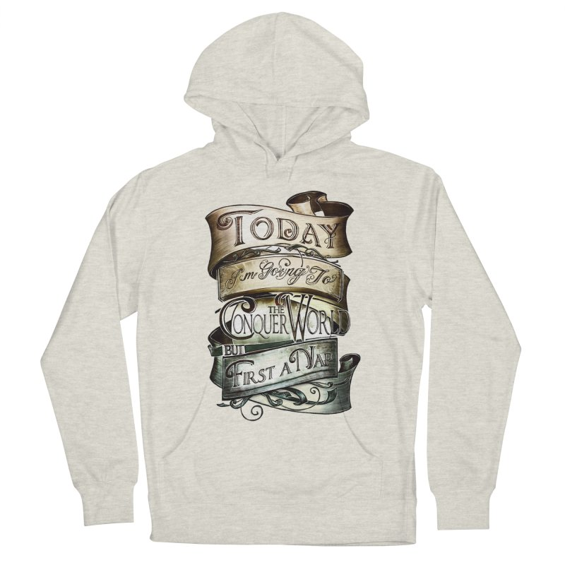 to conquer the world Women's French Terry Pullover Hoody by blancajp's Artist Shop