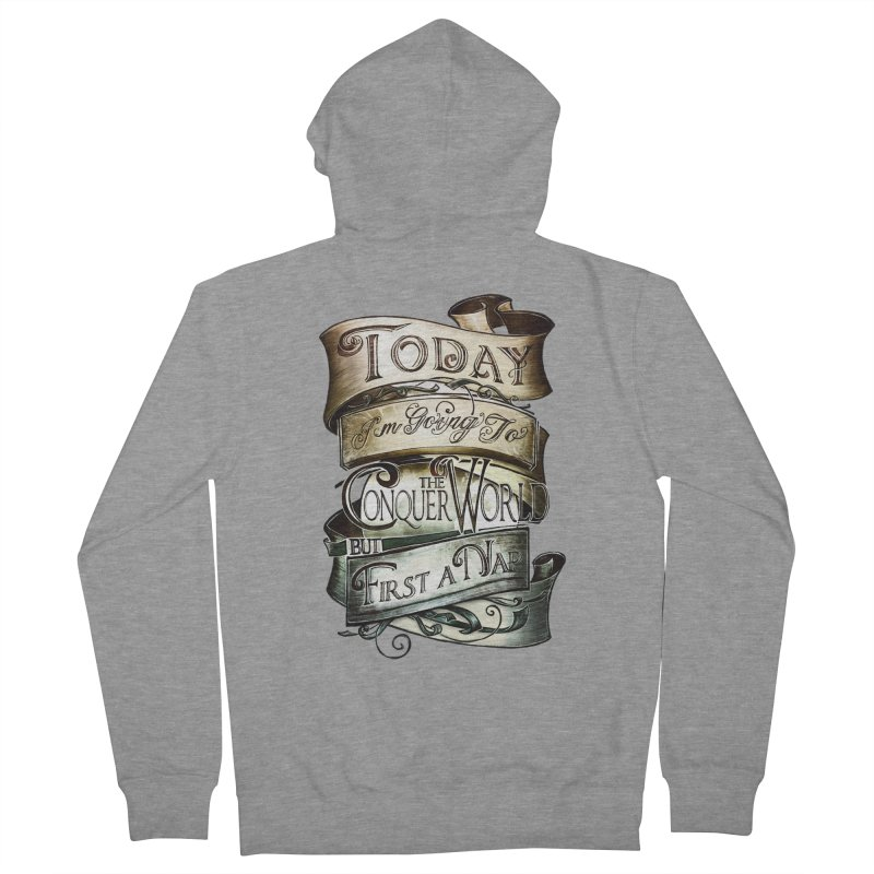 to conquer the world Women's Zip-Up Hoody by blancajp's Artist Shop
