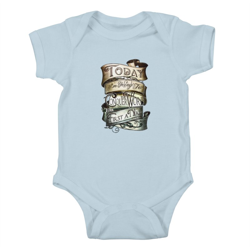 to conquer the world Kids Baby Bodysuit by blancajp's Artist Shop