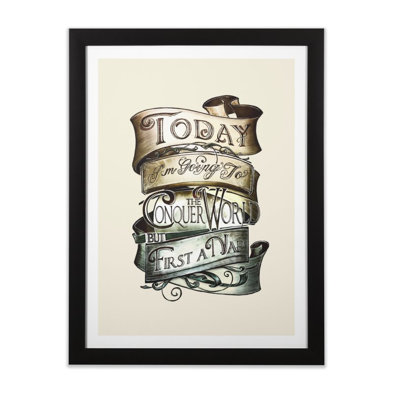 to conquer the world Home Framed Fine Art Print by blancajp's Artist Shop