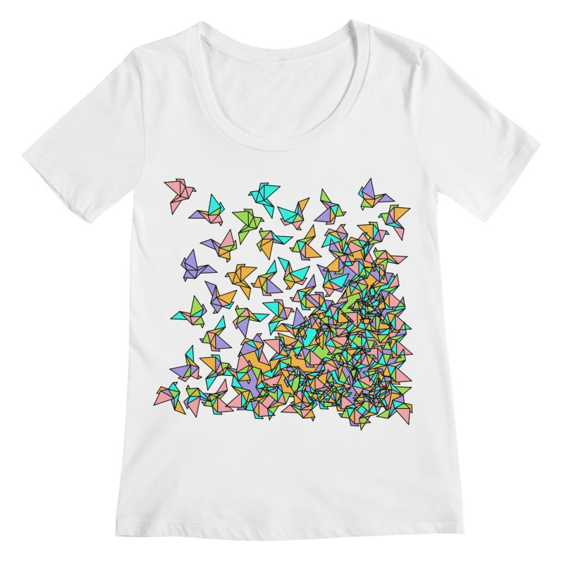 Birds Women's Regular Scoop Neck by blancajp's Artist Shop