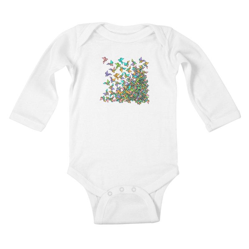 Birds Kids Baby Longsleeve Bodysuit by blancajp's Artist Shop