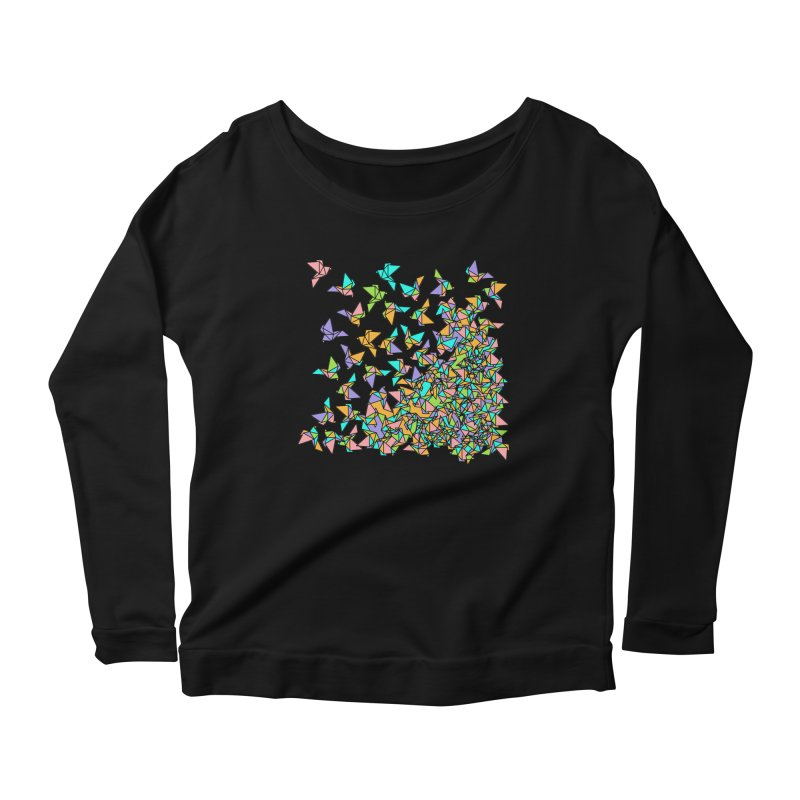 Birds Women's Scoop Neck Longsleeve T-Shirt by blancajp's Artist Shop
