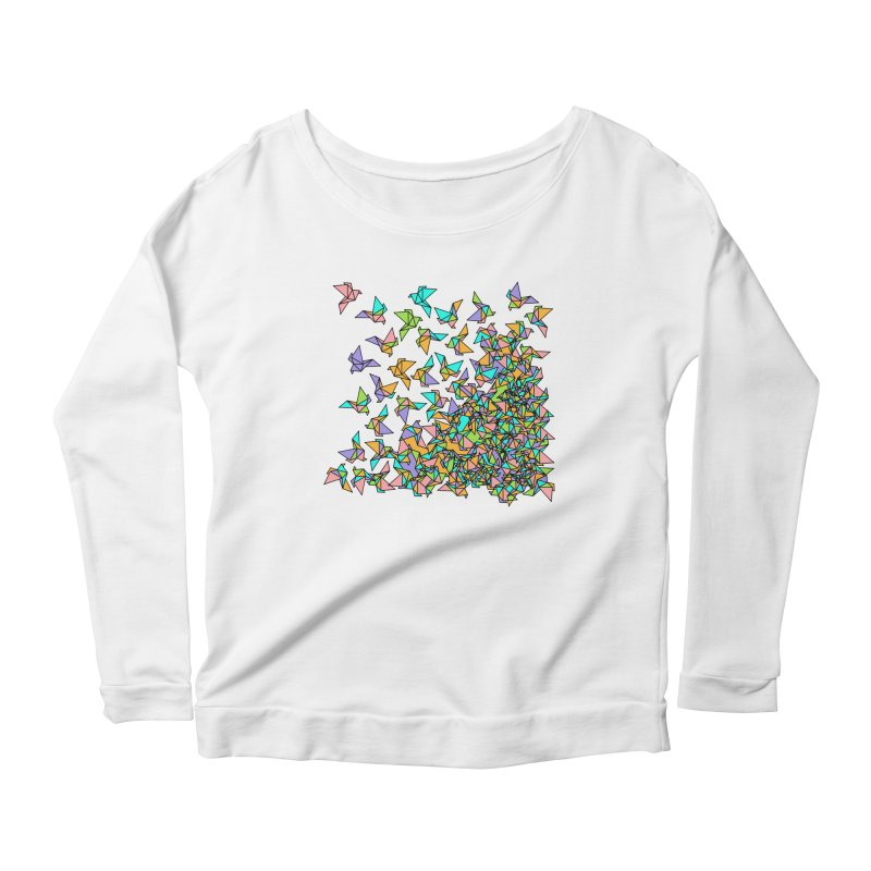 Birds Women's Scoop Neck Longsleeve T-Shirt by blancajp's Artist Shop