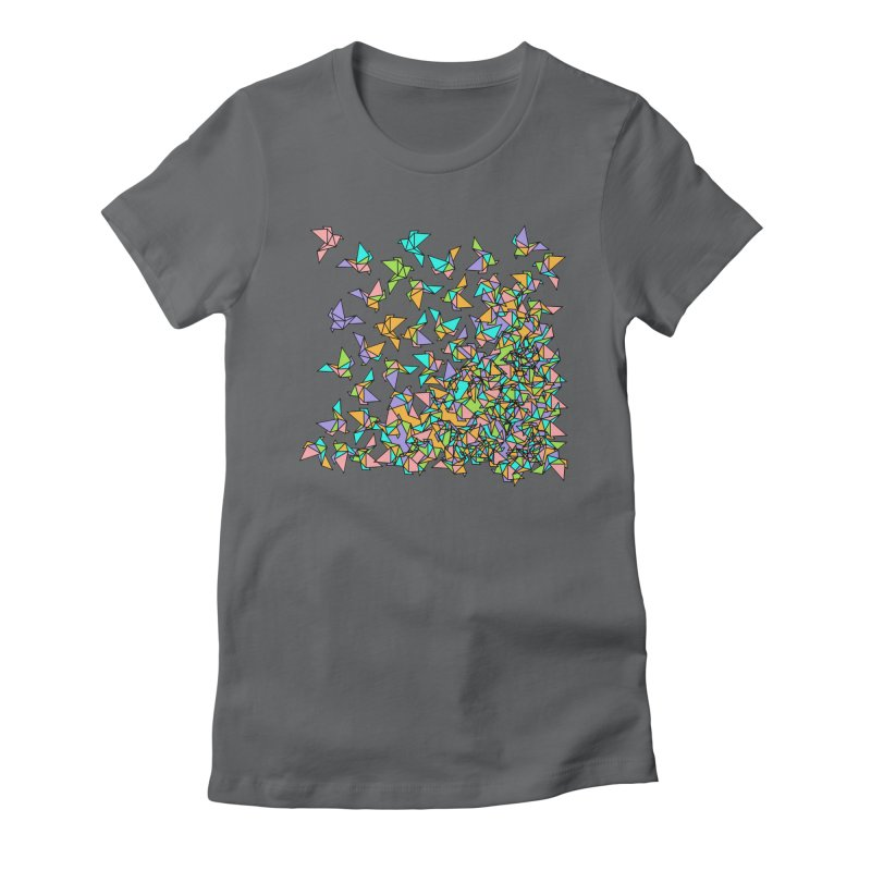Birds Women's Fitted T-Shirt by blancajp's Artist Shop