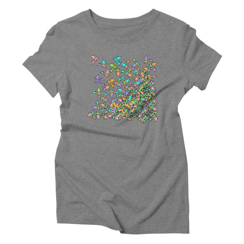 Birds Women's Triblend T-Shirt by blancajp's Artist Shop