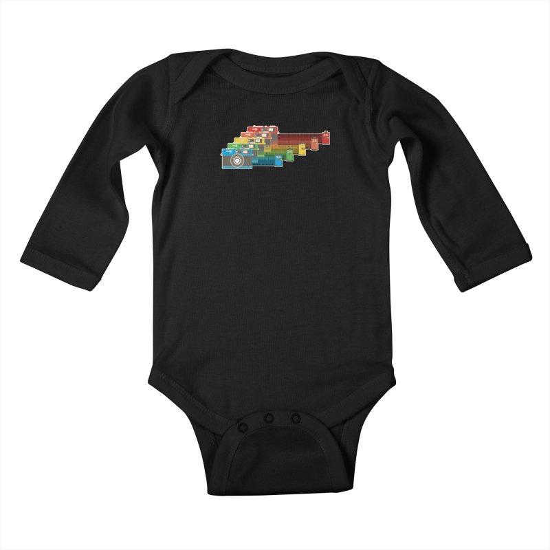 1970 Kids Baby Longsleeve Bodysuit by blancajp's Artist Shop