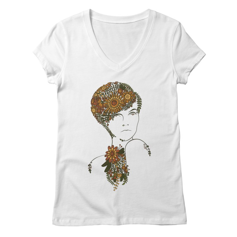 70s chic Women's Regular V-Neck by blancajp's Artist Shop