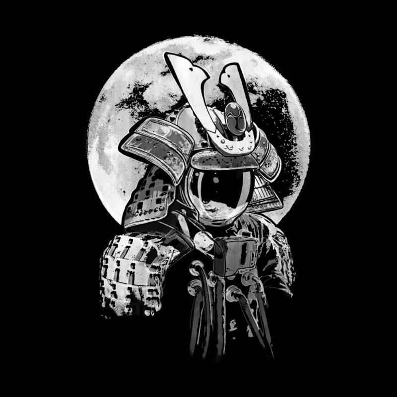 Space Samurai Kids Longsleeve T-Shirt by blancajp's Artist Shop