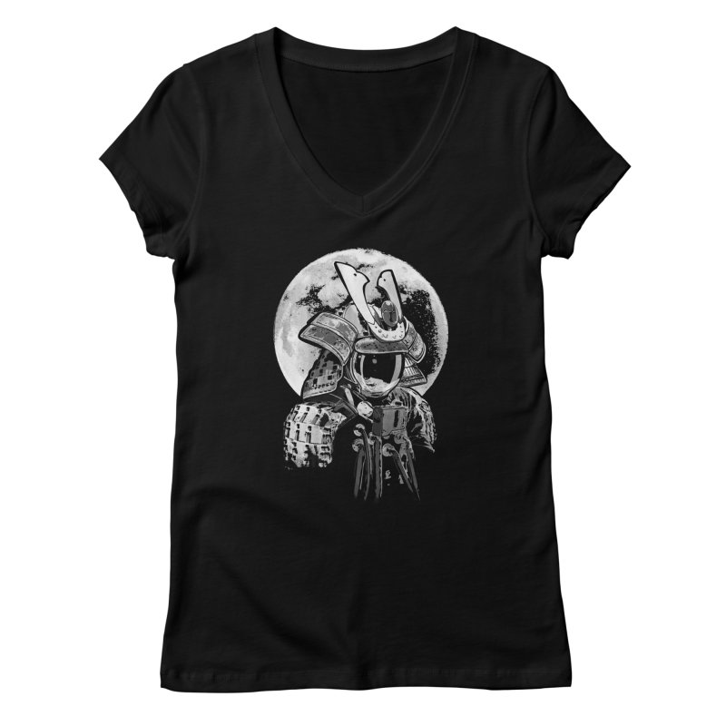 Space Samurai Women's V-Neck by blancajp's Artist Shop