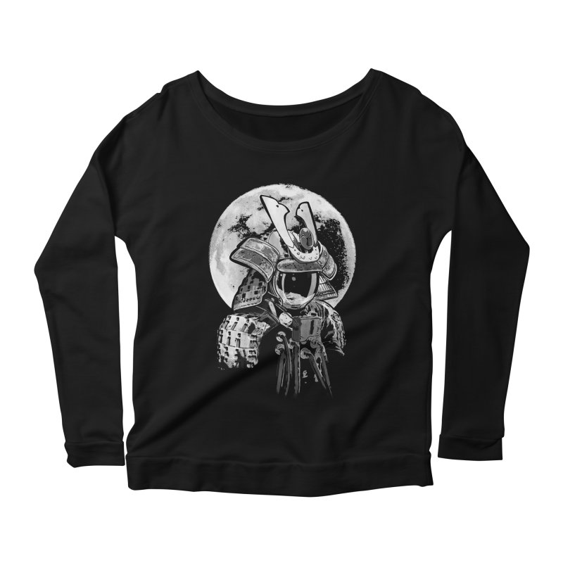 Space Samurai Women's Scoop Neck Longsleeve T-Shirt by blancajp's Artist Shop
