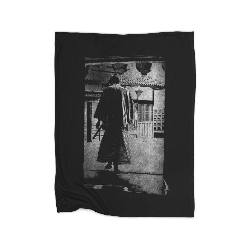 Samurai Samurai Home Fleece Blanket Blanket by blancajp's Artist Shop