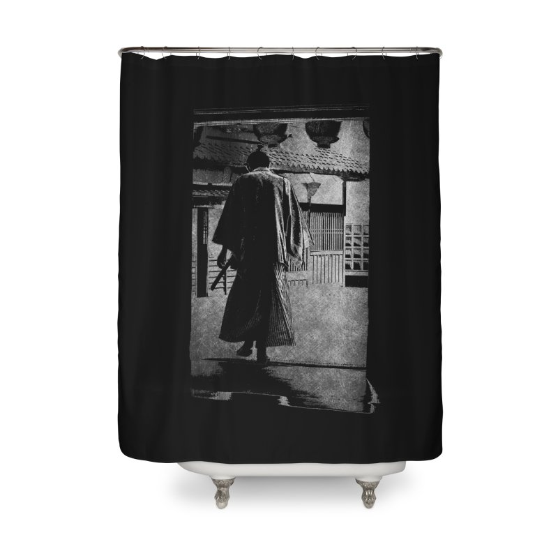 Samurai Samurai Home Shower Curtain by blancajp's Artist Shop