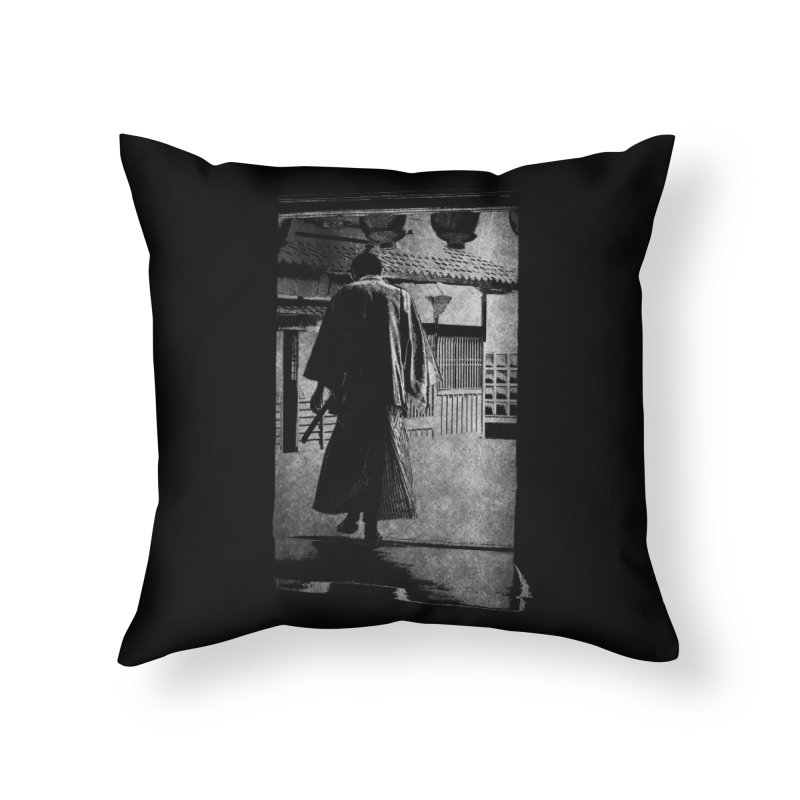 Samurai Samurai Home Throw Pillow by blancajp's Artist Shop