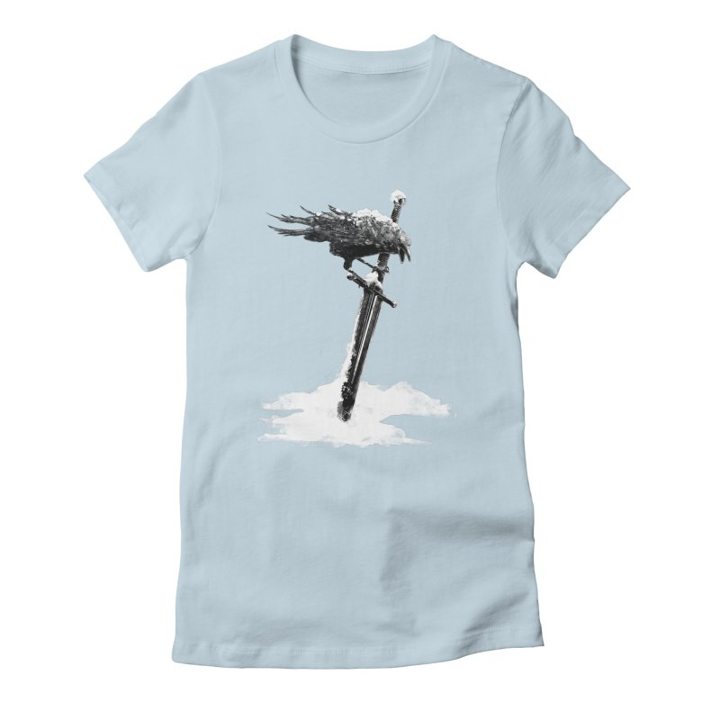 Snow Women's Fitted T-Shirt by blancajp's Artist Shop