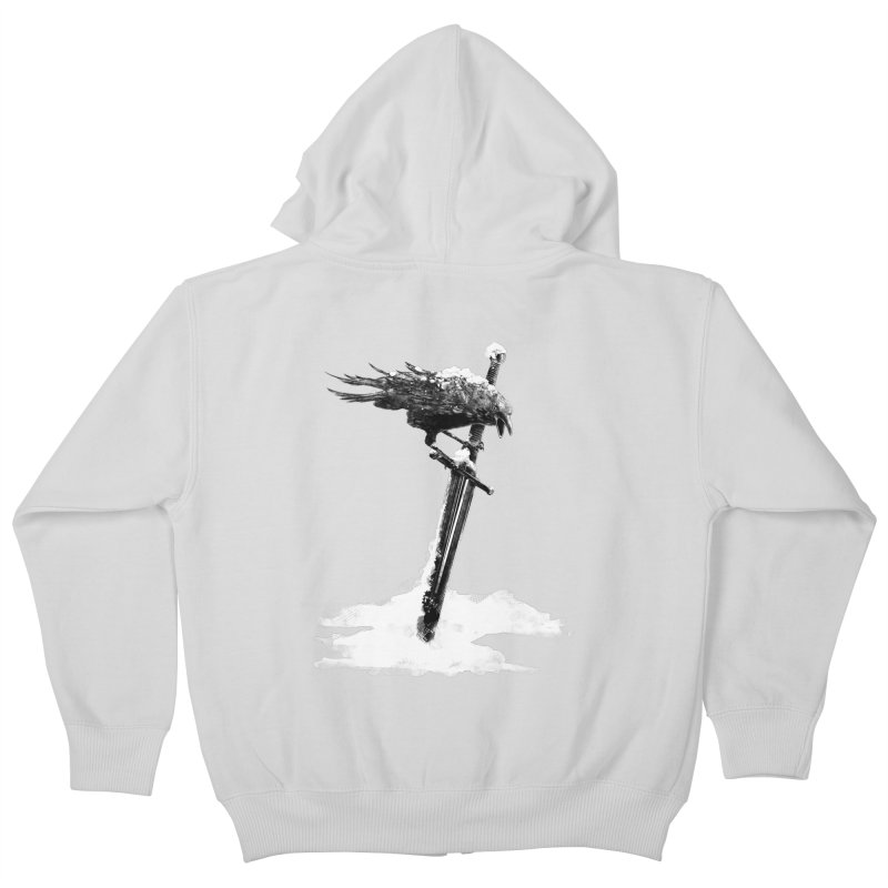 Snow Kids Zip-Up Hoody by blancajp's Artist Shop