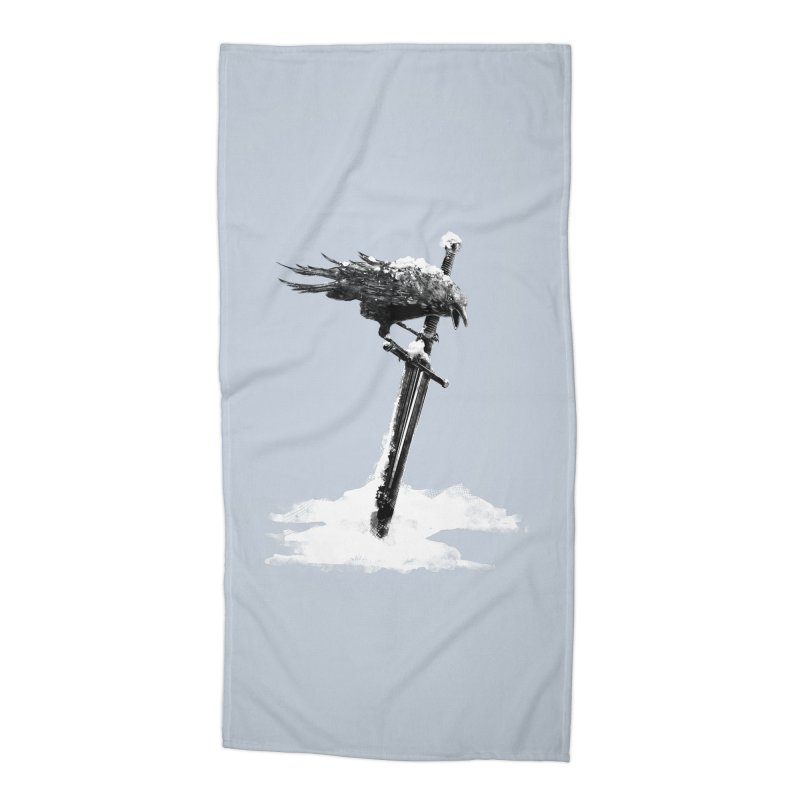 Snow Accessories Beach Towel by blancajp's Artist Shop