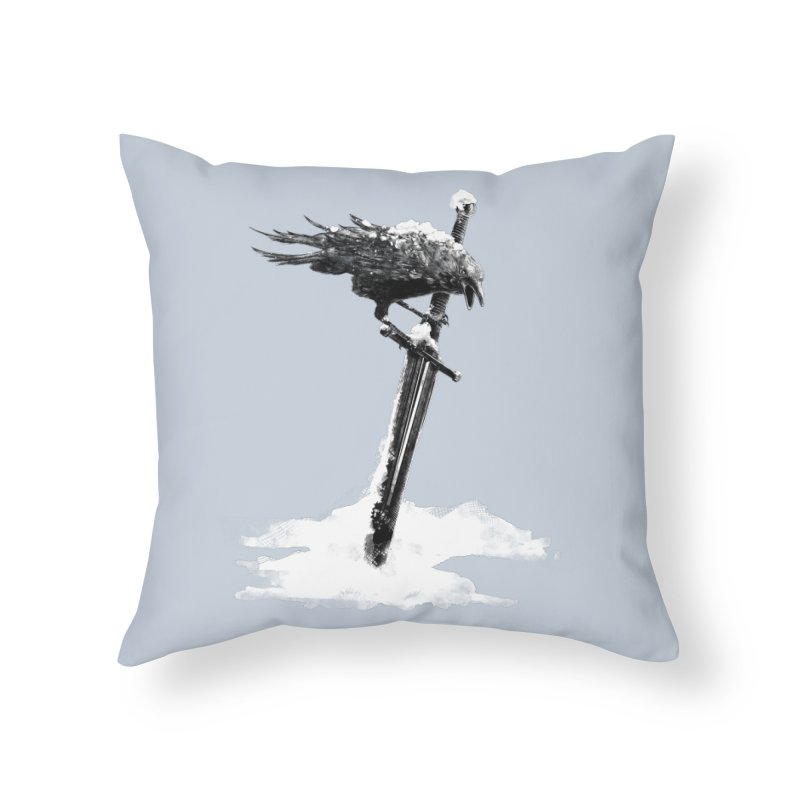 Snow Home Throw Pillow by blancajp's Artist Shop