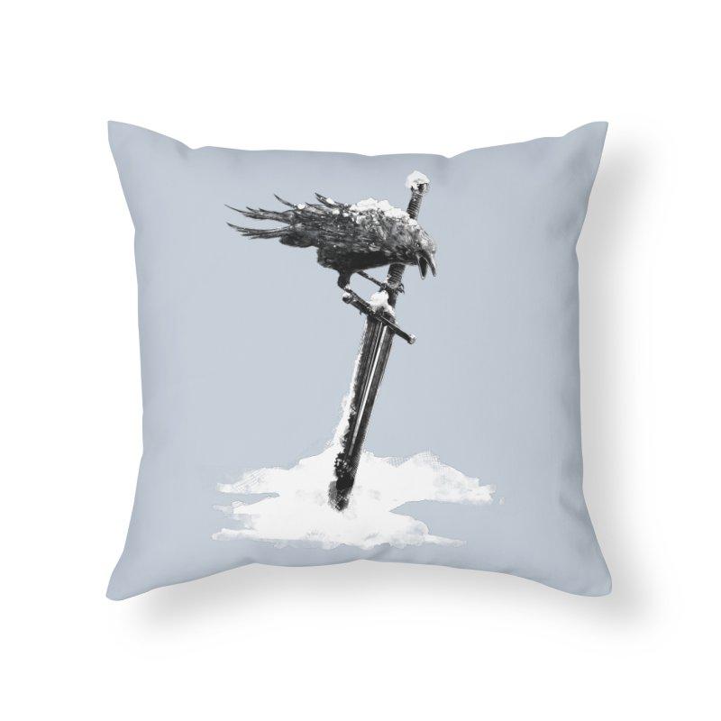 Snow Home Throw Pillow by blancajp's Artist Shop