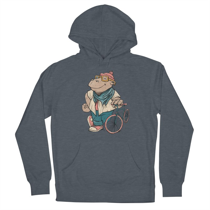 Hipster Hippo Men's French Terry Pullover Hoody by blancajp's Artist Shop