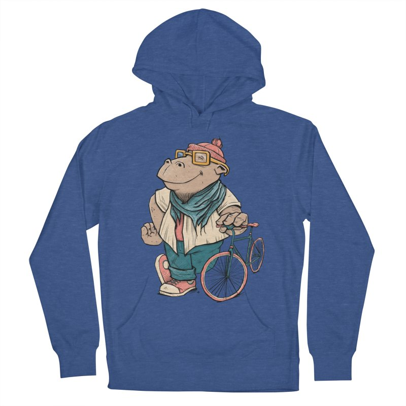 Hipster Hippo Women's French Terry Pullover Hoody by blancajp's Artist Shop