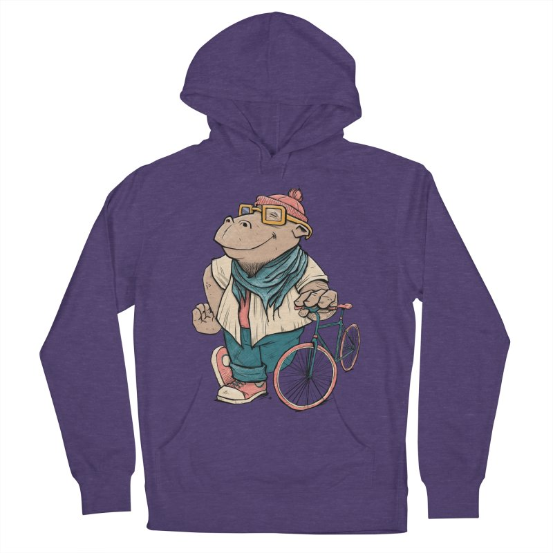 Hipster Hippo Women's Pullover Hoody by blancajp's Artist Shop