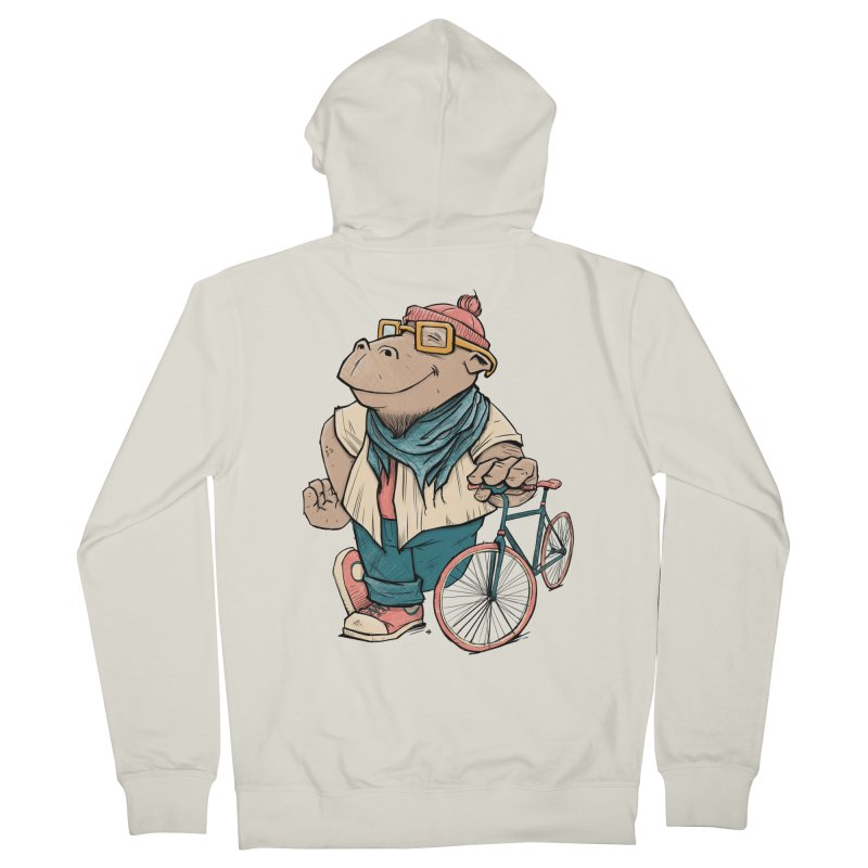 Hipster Hippo Women's Zip-Up Hoody by blancajp's Artist Shop