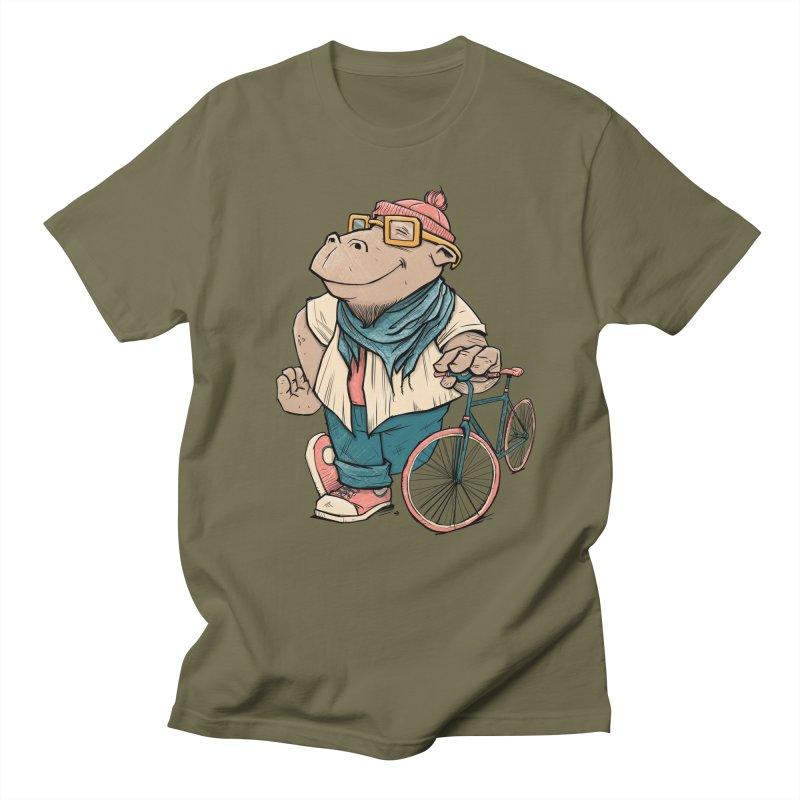 Hipster Hippo Women's Regular Unisex T-Shirt by blancajp's Artist Shop