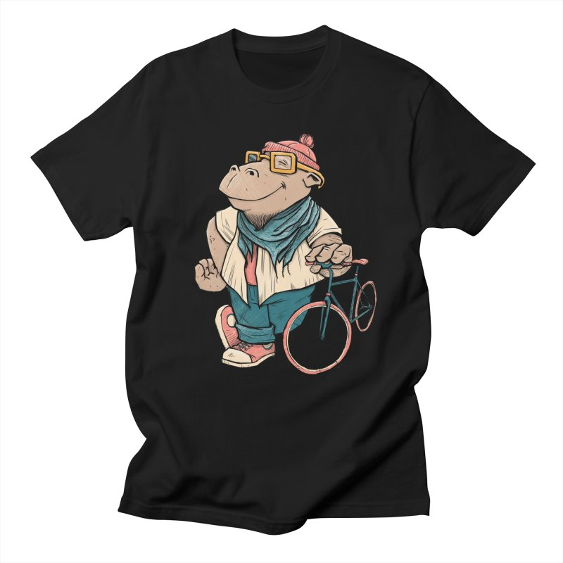 Hipster Hippo Men's T-shirt by blancajp's Artist Shop