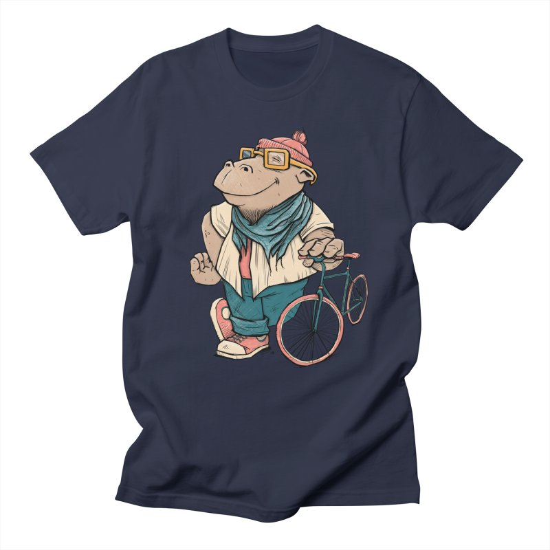 Hipster Hippo Men's Regular T-Shirt by blancajp's Artist Shop