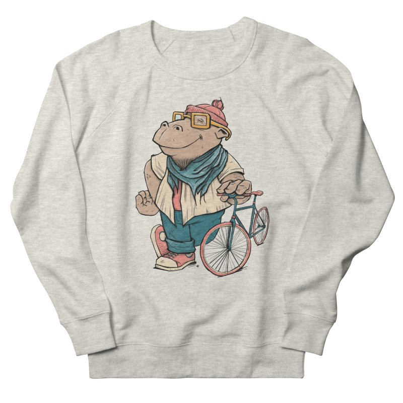 Hipster Hippo Men's Sweatshirt by blancajp's Artist Shop